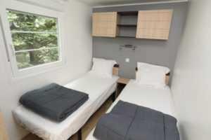 chambre 2 lits mobil homes en location au camping La Baie de Somme au Crotoy