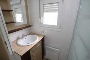 salle de bains mobil homes en location au camping La Baie de Somme au Crotoy