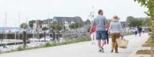 Accès direct au port du Crotoy au camping La Baie de Somme, location mobil home et chalet pour week-end et vacances en baie de Somme