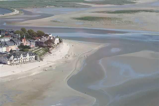 vue aérienne le Crotoy en baie de somme