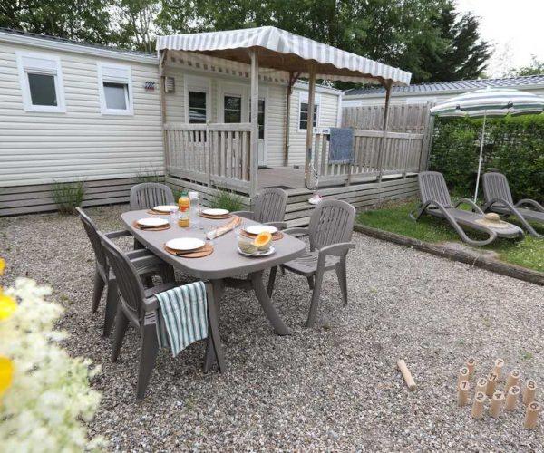 Extérieur mobil homes en location au camping La Baie de Somme au Crotoy