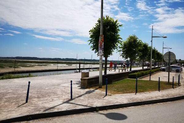 Vue du front de mer face à la baie de somme au Crotoy