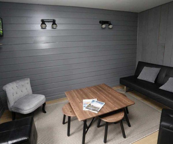 salon-location petite maison au camping la côte picarde au crotoy